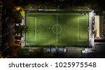 birds eye view of a soccer  ... | Shutterstock . vector #1025975548