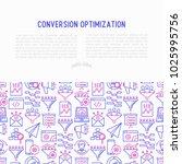 conversion optimization concept ... | Shutterstock .eps vector #1025995756