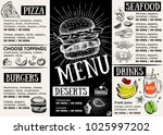 restaurant cafe menu  template... | Shutterstock .eps vector #1025997202