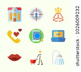 icons about lifestyle with kiss ... | Shutterstock .eps vector #1026009232