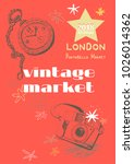 vintage market   vector design... | Shutterstock .eps vector #1026014362
