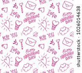 seamless pattern for valentine... | Shutterstock .eps vector #1026014638