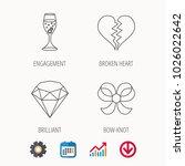 broken heart  brilliant and...   Shutterstock .eps vector #1026022642