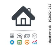 home icon. house building... | Shutterstock .eps vector #1026024262