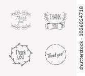 thank you concept with leaves... | Shutterstock .eps vector #1026024718