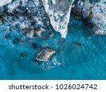 Aerial View Of Rocky Coastline. ...