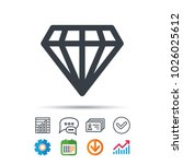 diamond icon. jewelry gem...   Shutterstock .eps vector #1026025612