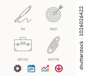 briefcase  safety pin and... | Shutterstock .eps vector #1026026422