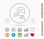 conversation icon. chat speech... | Shutterstock .eps vector #1026026446