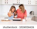 attractive blond 30s woman... | Shutterstock . vector #1026026626