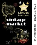 vintage market   vector design... | Shutterstock .eps vector #1026027526