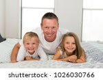 young caucasian man  lying on... | Shutterstock . vector #1026030766