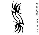 tattoo tribal vector design.... | Shutterstock .eps vector #1026038092
