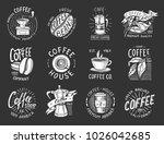 set of coffee logos. modern... | Shutterstock .eps vector #1026042685