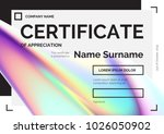 certificate template with... | Shutterstock .eps vector #1026050902