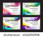 set of certificate templates... | Shutterstock .eps vector #1026050908