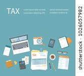 tax payment concept. state... | Shutterstock .eps vector #1026057982