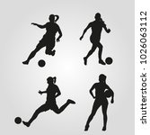 illustration of silhouettes of...   Shutterstock .eps vector #1026063112