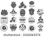 hand drawn black logos set for... | Shutterstock .eps vector #1026063376