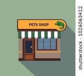 restaurants and shops facade ... | Shutterstock . vector #1026063412