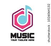 music logo with text space for... | Shutterstock .eps vector #1026064132