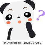 panda question vector... | Shutterstock .eps vector #1026067252