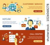 digital call center and... | Shutterstock .eps vector #1026068278