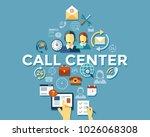 digital call center and... | Shutterstock .eps vector #1026068308