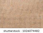 sackcloth textured background | Shutterstock . vector #1026074482