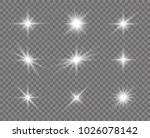 glowing lights effect  flare ... | Shutterstock .eps vector #1026078142