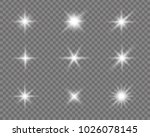 glowing lights effect  flare ... | Shutterstock .eps vector #1026078145