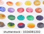 bright multicolored circles of... | Shutterstock . vector #1026081202