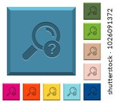 unknown search engraved icons... | Shutterstock .eps vector #1026091372