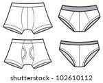 man underwear set  pants  boxer ...   Shutterstock .eps vector #102610112