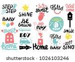 15 children s logo with... | Shutterstock .eps vector #1026103246