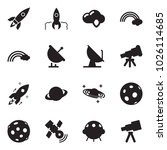 solid black vector icon set  ... | Shutterstock .eps vector #1026114685