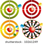 target with apple | Shutterstock .eps vector #10261249