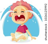funny baby crying vector...   Shutterstock .eps vector #1026125992