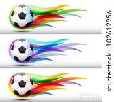 football  or soccer ball in... | Shutterstock .eps vector #102612956