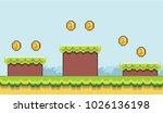 pixel platformer background...