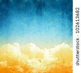 A Fantasy Cloudscape. Retro...