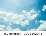 art blue sky with white clouds...   Shutterstock . vector #1026142045