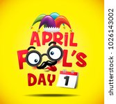 april fool's day  typography ... | Shutterstock .eps vector #1026143002