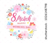 women s day typography   hand... | Shutterstock .eps vector #1026148798