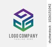 letter g logo abstract. g cube... | Shutterstock .eps vector #1026151042