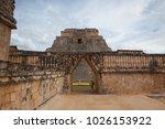 uxmal  mexico   january 30 ... | Shutterstock . vector #1026153922