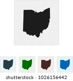 map of ohio | Shutterstock .eps vector #1026156442
