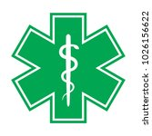 the star of life  with the... | Shutterstock . vector #1026156622