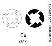 black zero cryptocurrency... | Shutterstock .eps vector #1026159076