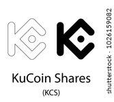 black kucoin shares... | Shutterstock .eps vector #1026159082